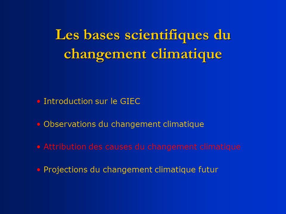 Les bases scientifiques du changement climatique