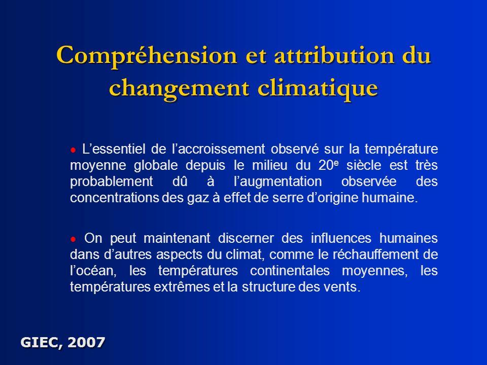 Compréhension et attribution du changement climatique