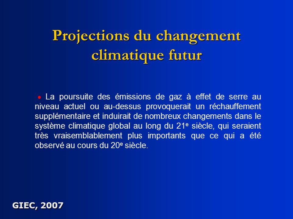 Projections du changement climatique futur