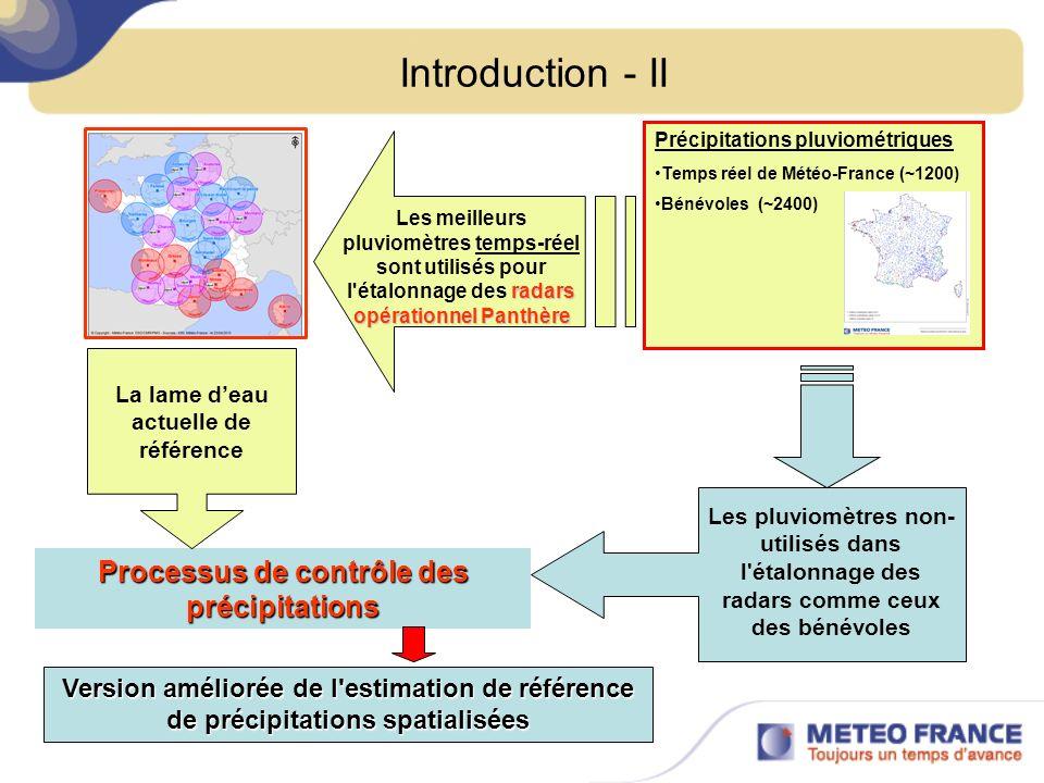 Introduction - II Processus de contrôle des précipitations
