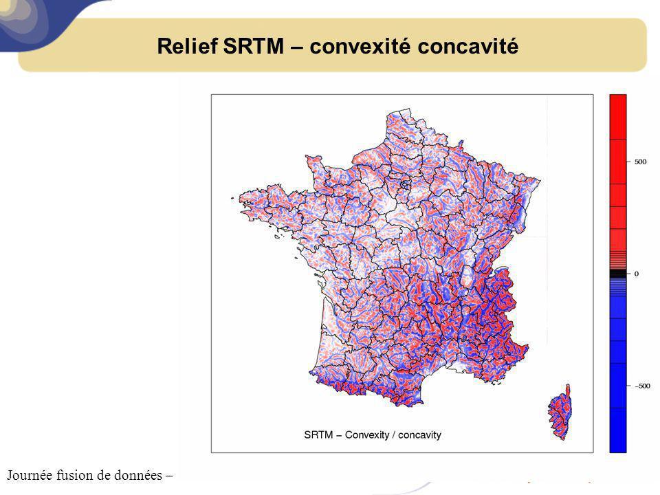Relief SRTM – convexité concavité