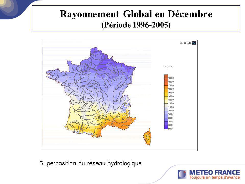 Rayonnement Global en Décembre (Période 1996-2005)