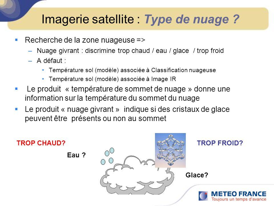 Imagerie satellite : Type de nuage