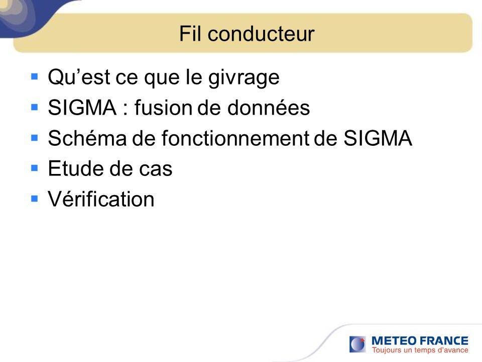 Fil conducteurQu'est ce que le givrage. SIGMA : fusion de données. Schéma de fonctionnement de SIGMA.