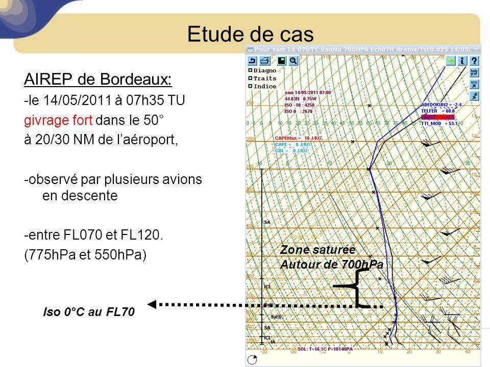 Etude de cas AIREP de Bordeaux: -le 14/05/2011 à 07h35 TU