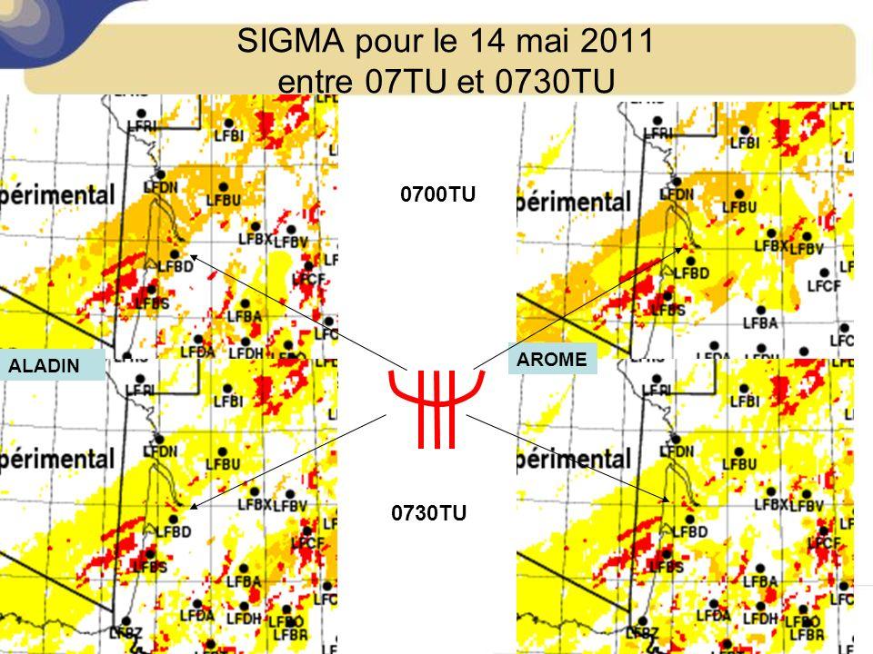 SIGMA pour le 14 mai 2011 entre 07TU et 0730TU