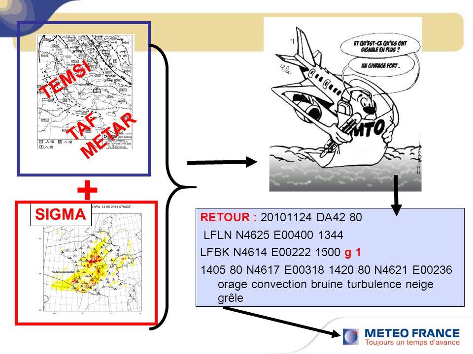 + TEMSI TAF METAR SIGMA RETOUR : 20101124 DA42 80