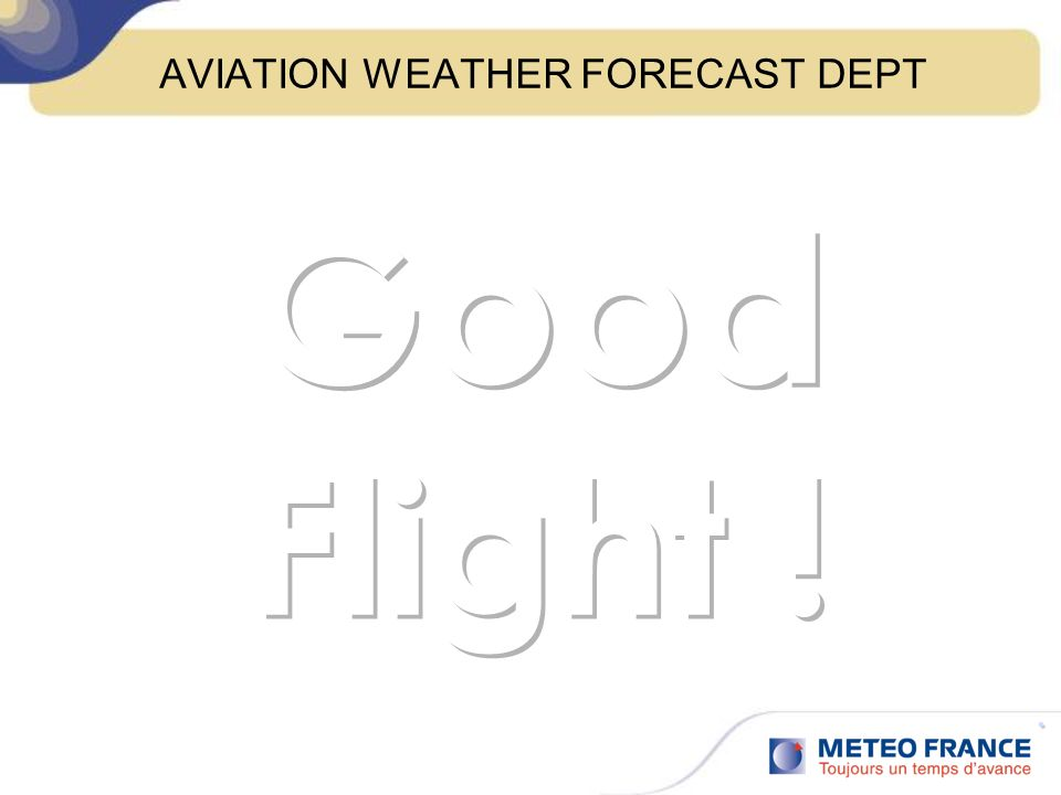 AVIATION WEATHER FORECAST DEPT