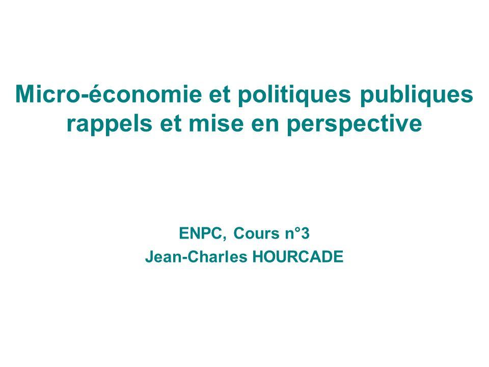 Micro-économie et politiques publiques rappels et mise en perspective