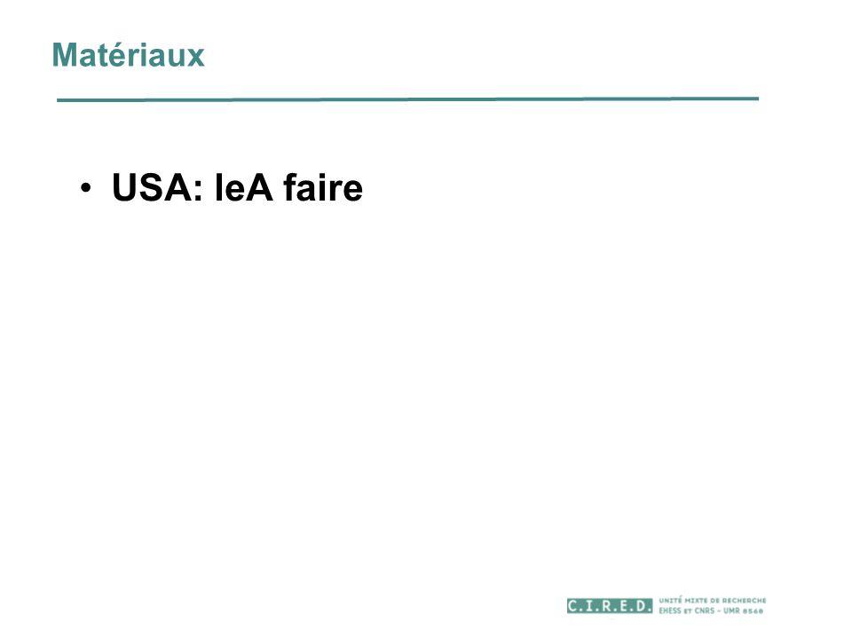 Matériaux USA: leA faire