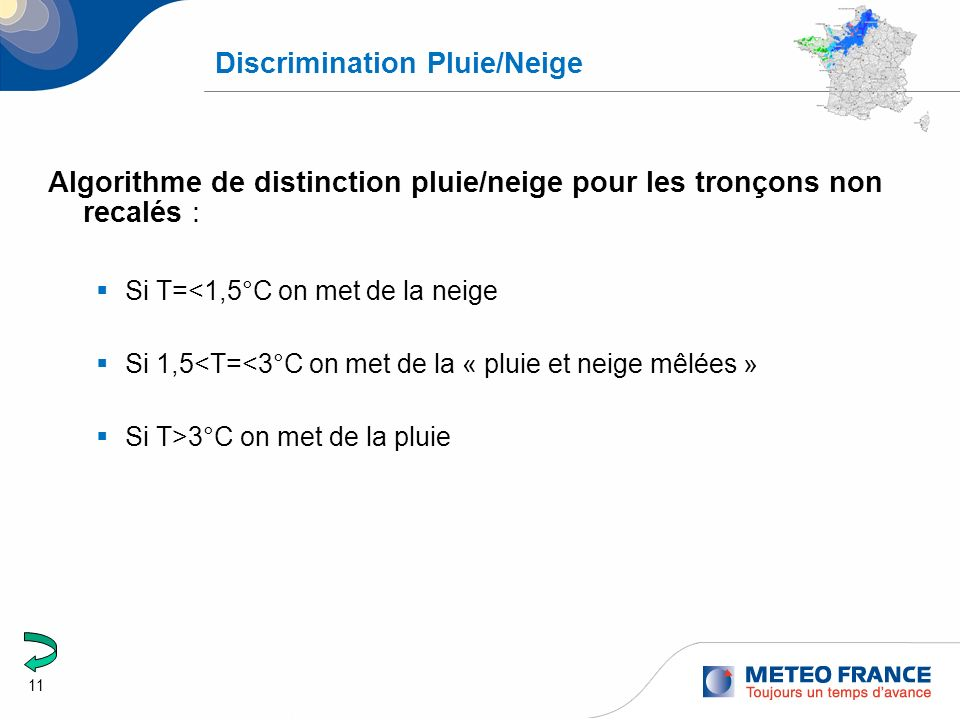 Discrimination Pluie/Neige