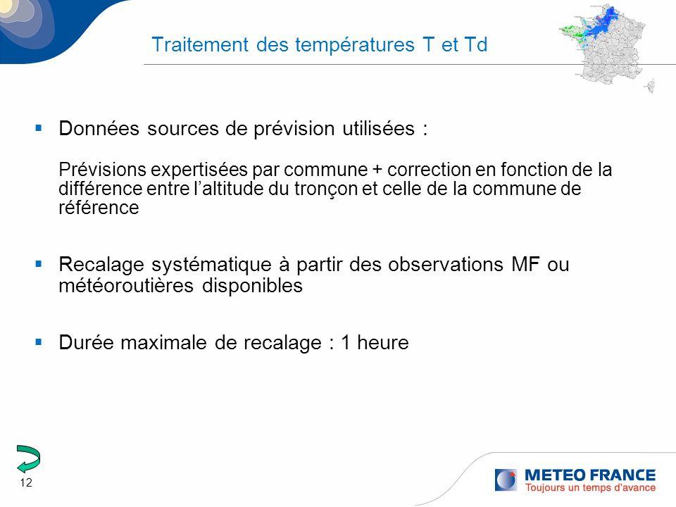 Traitement des températures T et Td