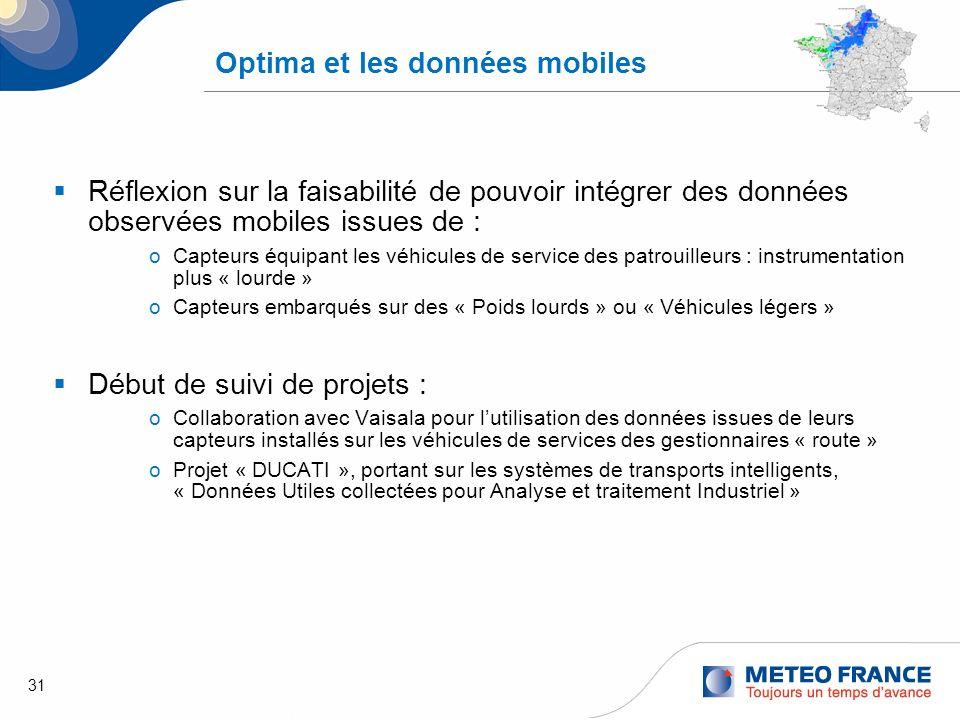 Optima et les données mobiles
