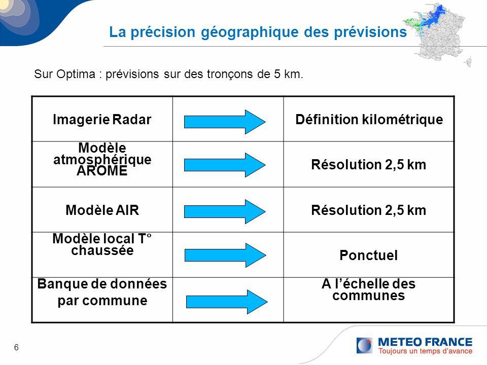 La précision géographique des prévisions