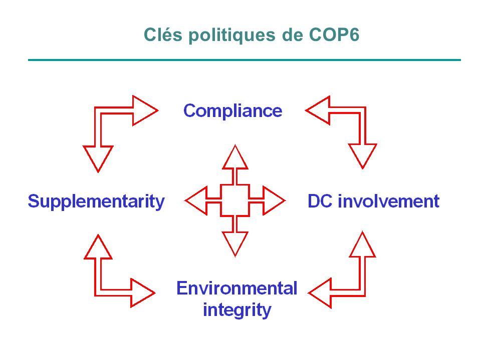 Clés politiques de COP6