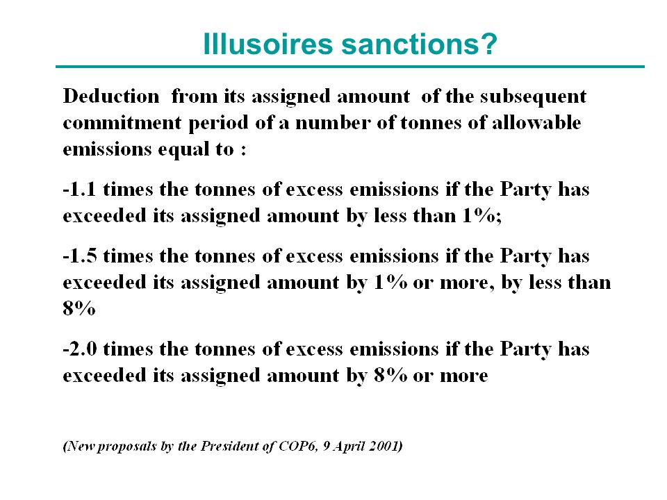 Illusoires sanctions