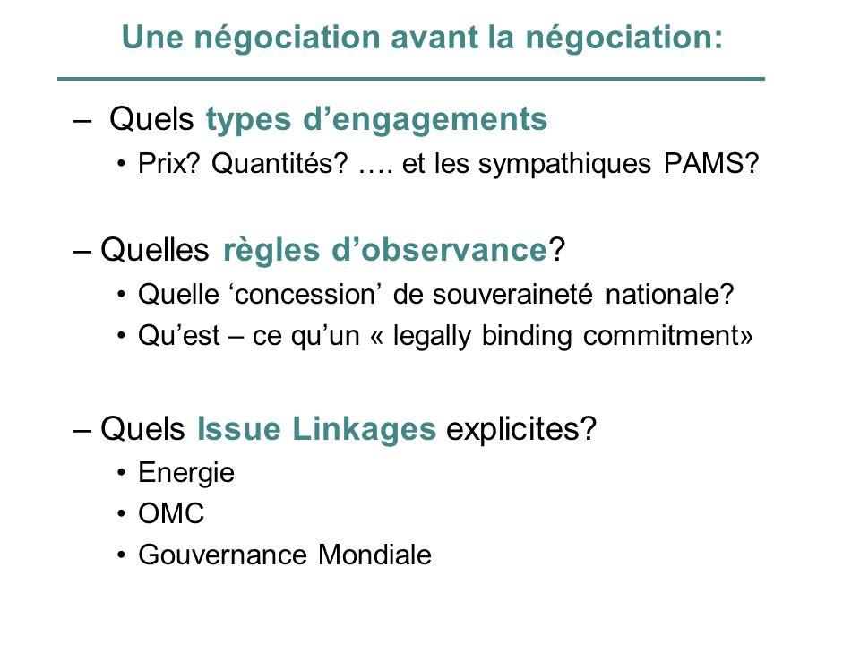 Une négociation avant la négociation: