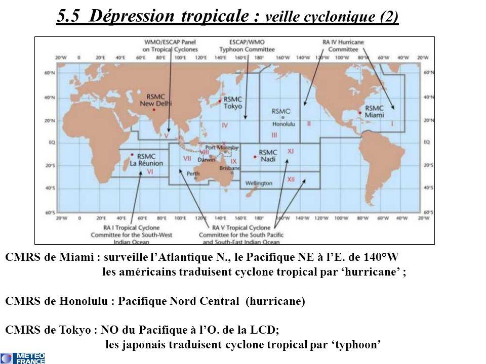 5.5 Dépression tropicale : veille cyclonique (2)