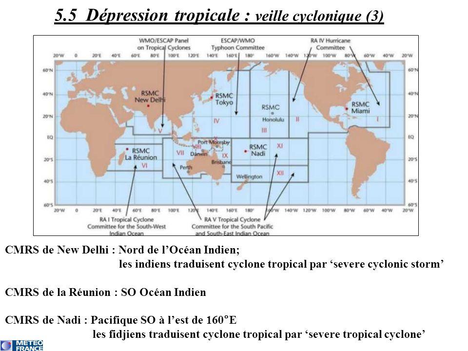 5.5 Dépression tropicale : veille cyclonique (3)