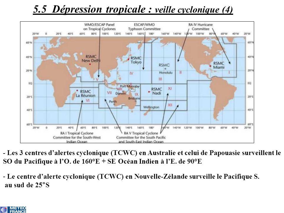 5.5 Dépression tropicale : veille cyclonique (4)