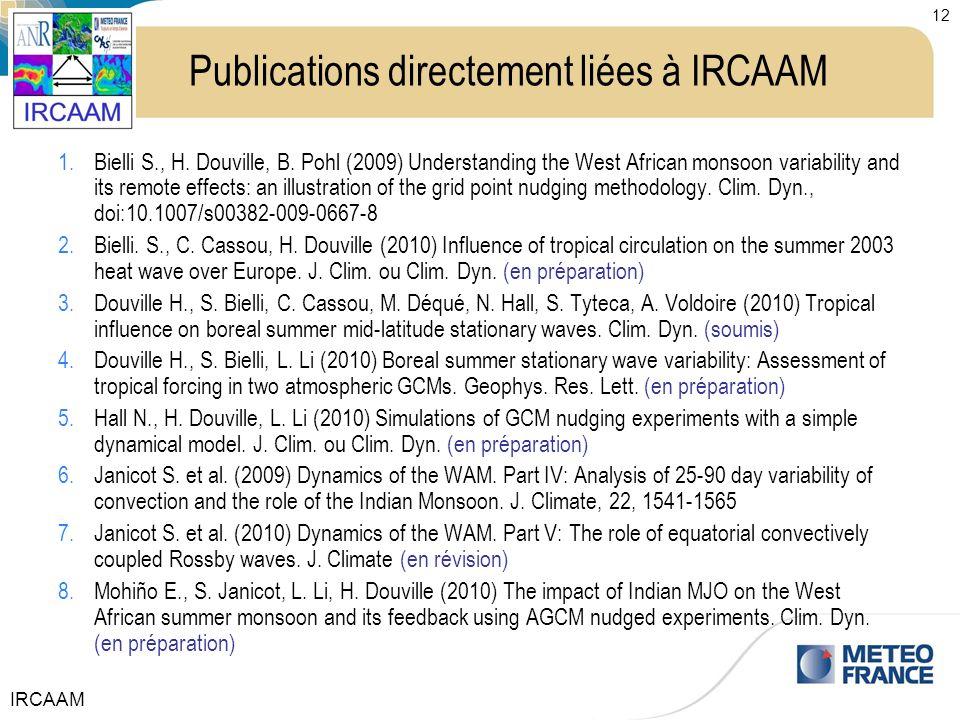Publications directement liées à IRCAAM