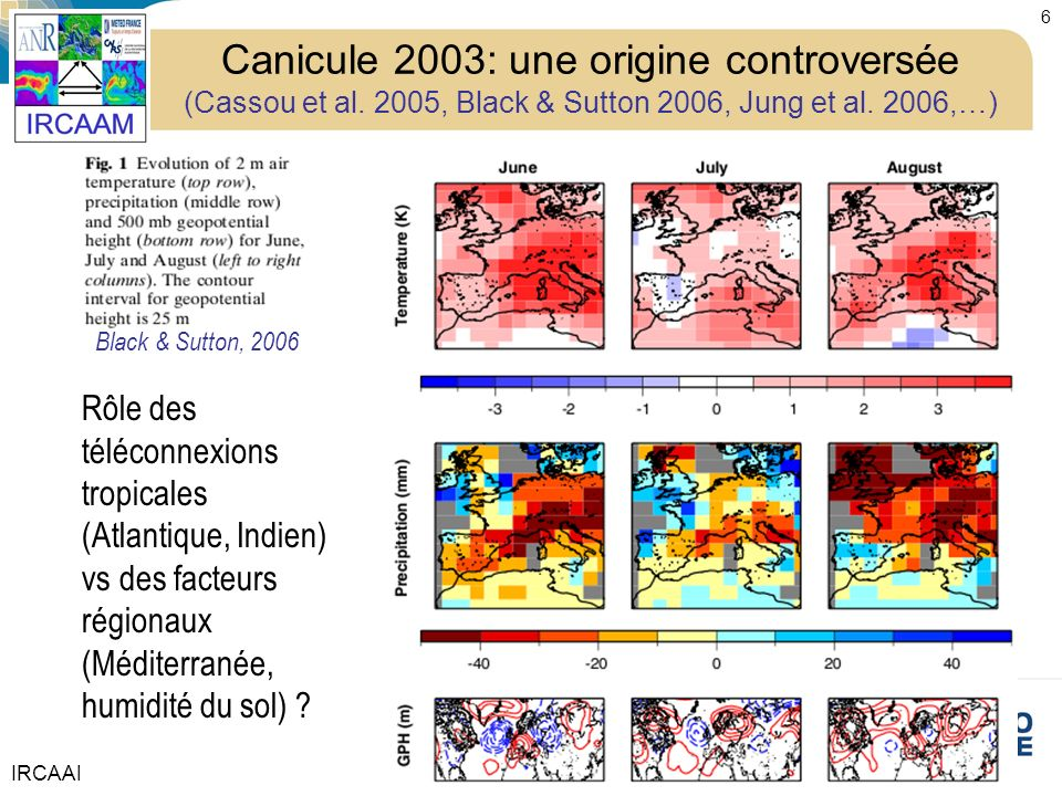 Canicule 2003: une origine controversée (Cassou et al