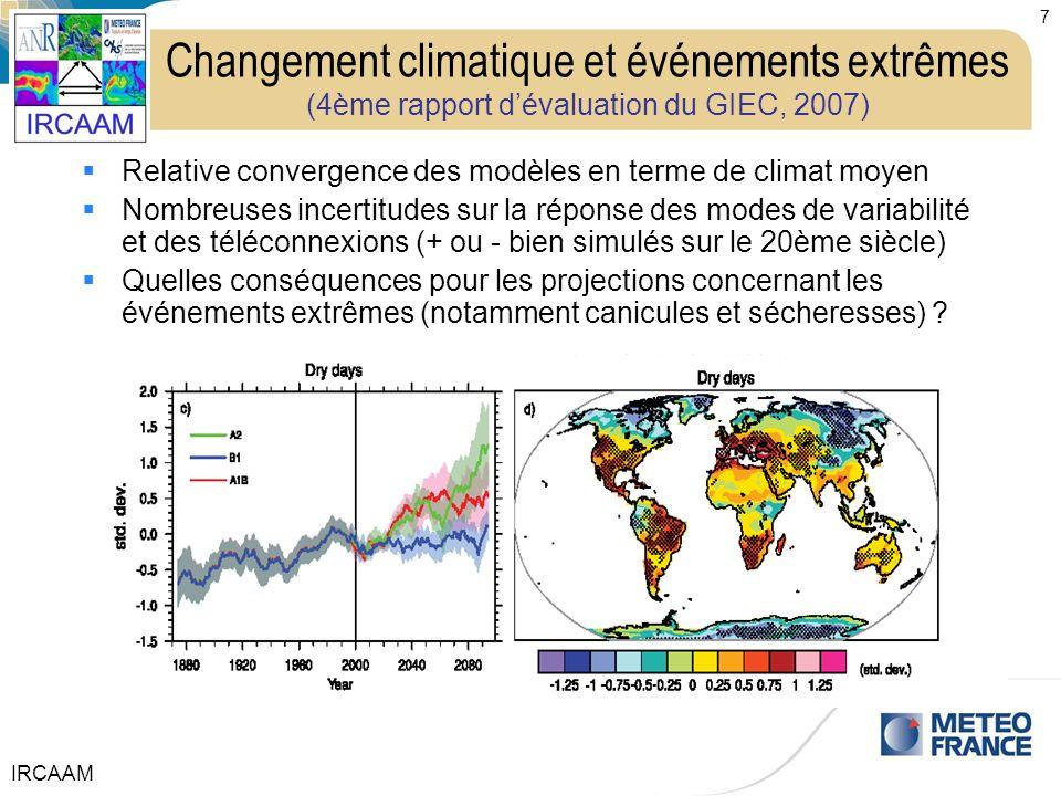 Changement climatique et événements extrêmes (4ème rapport d'évaluation du GIEC, 2007)