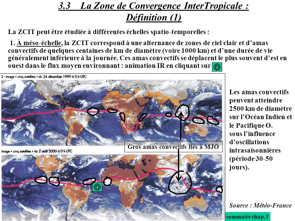 3.3 La Zone de Convergence InterTropicale : Définition (1)