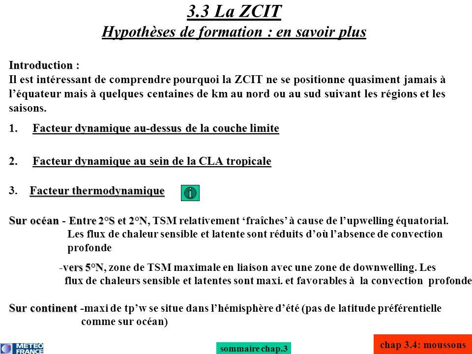 3.3 La ZCIT Hypothèses de formation : en savoir plus
