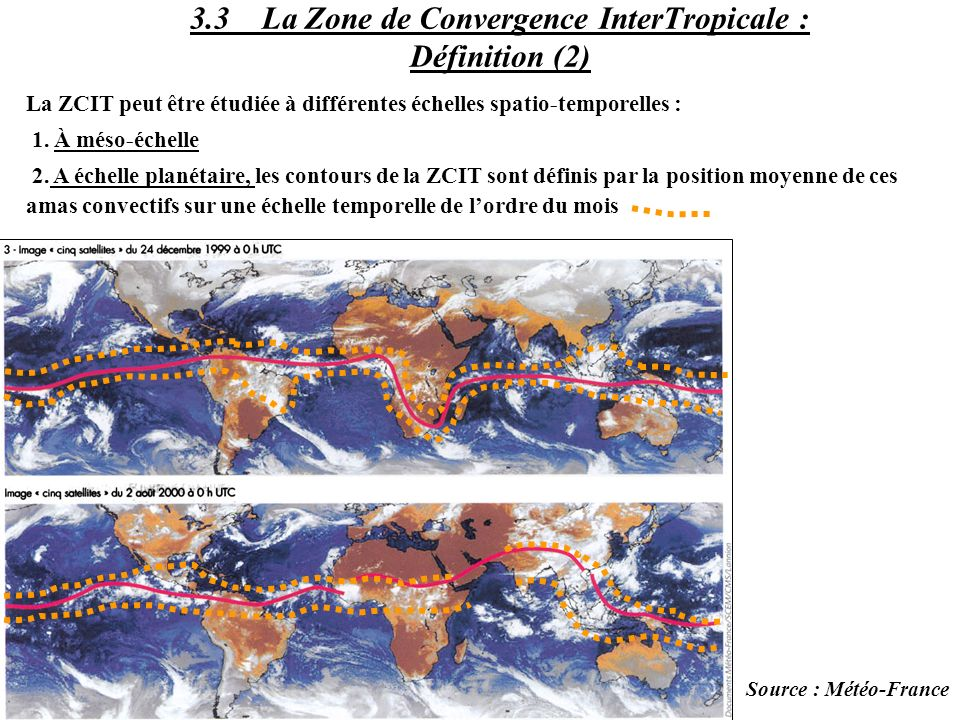 3.3 La Zone de Convergence InterTropicale : Définition (2)