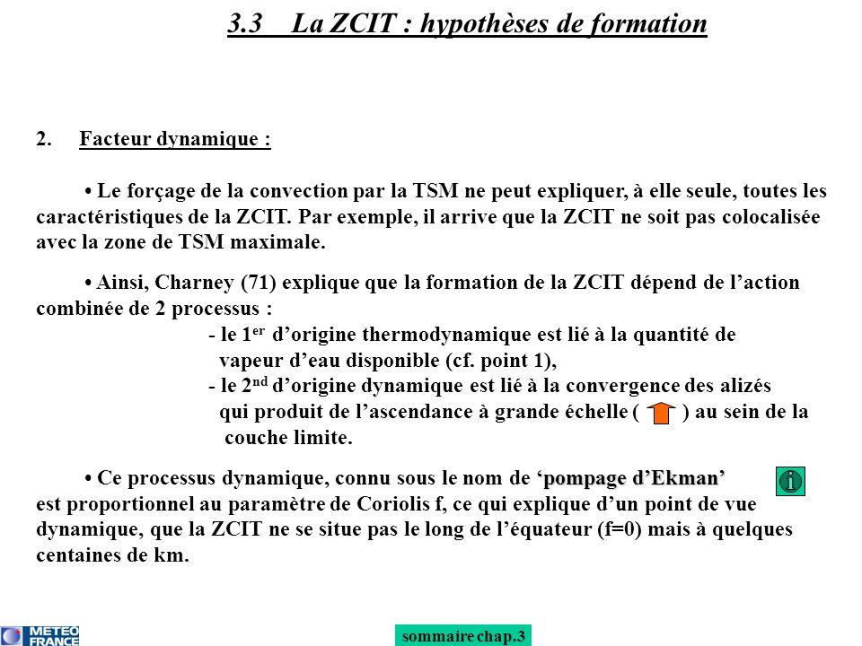 3.3 La ZCIT : hypothèses de formation