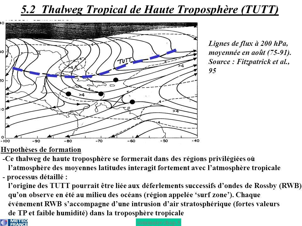 5.2 Thalweg Tropical de Haute Troposphère (TUTT)