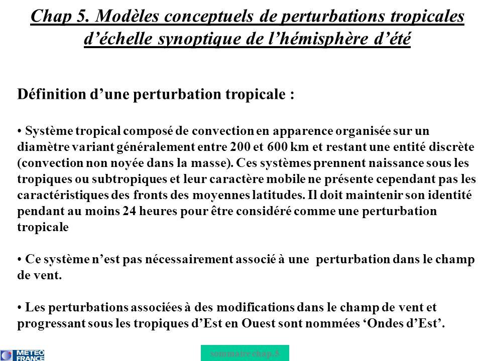 Chap 5. Modèles conceptuels de perturbations tropicales d'échelle synoptique de l'hémisphère d'été