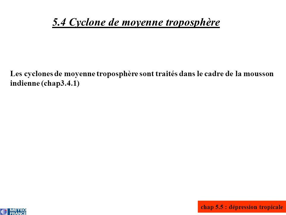 5.4 Cyclone de moyenne troposphère