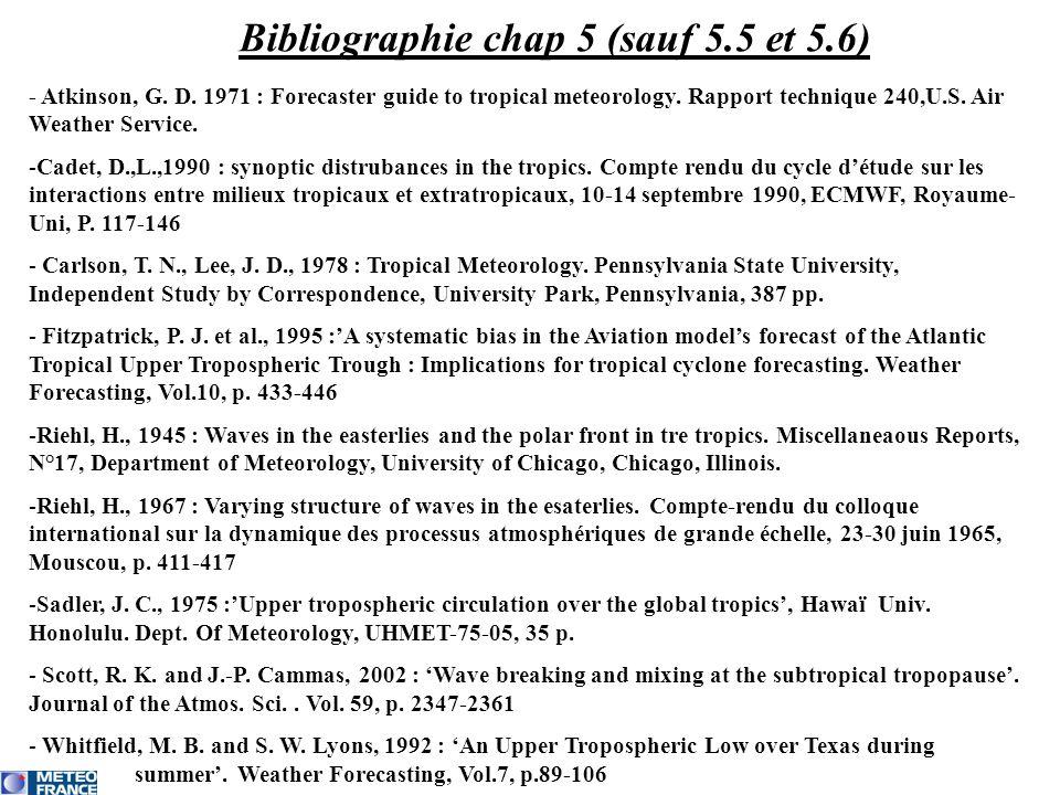 Bibliographie chap 5 (sauf 5.5 et 5.6)