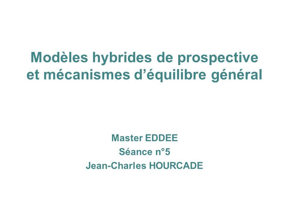 Modèles hybrides de prospective et mécanismes d'équilibre général