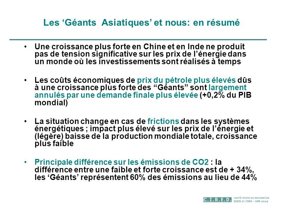Les 'Géants Asiatiques' et nous: en résumé