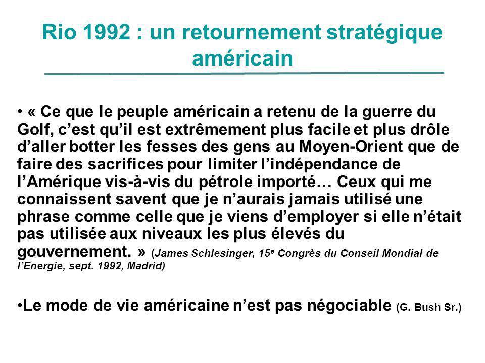 Rio 1992 : un retournement stratégique américain