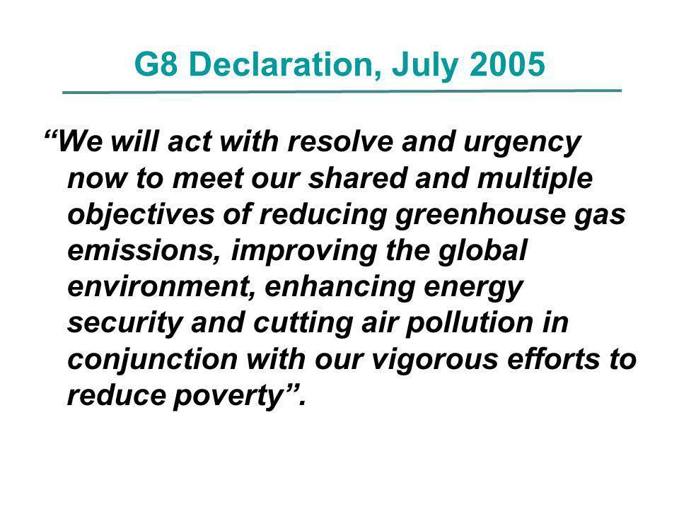 G8 Declaration, July 2005