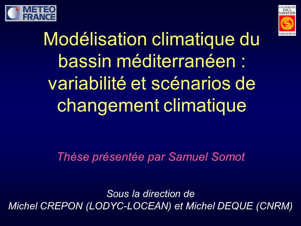 Modélisation climatique du bassin méditerranéen : variabilité et scénarios de changement climatique