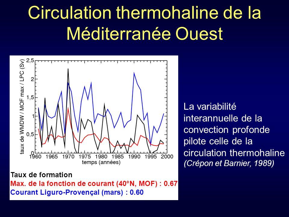 Circulation thermohaline de la Méditerranée Ouest