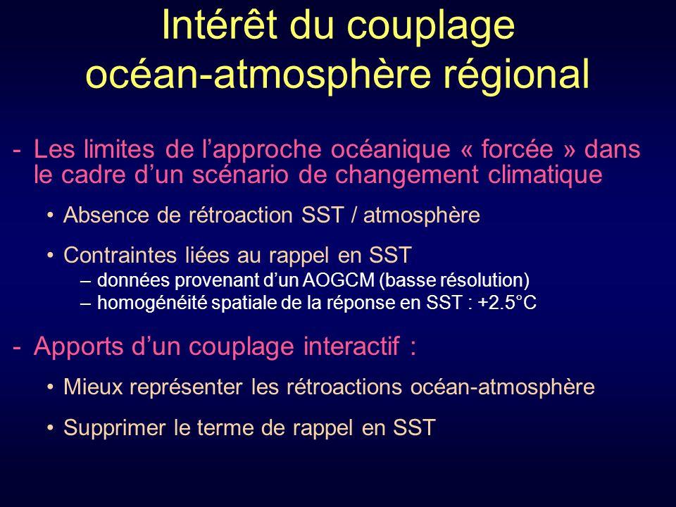 Intérêt du couplage océan-atmosphère régional