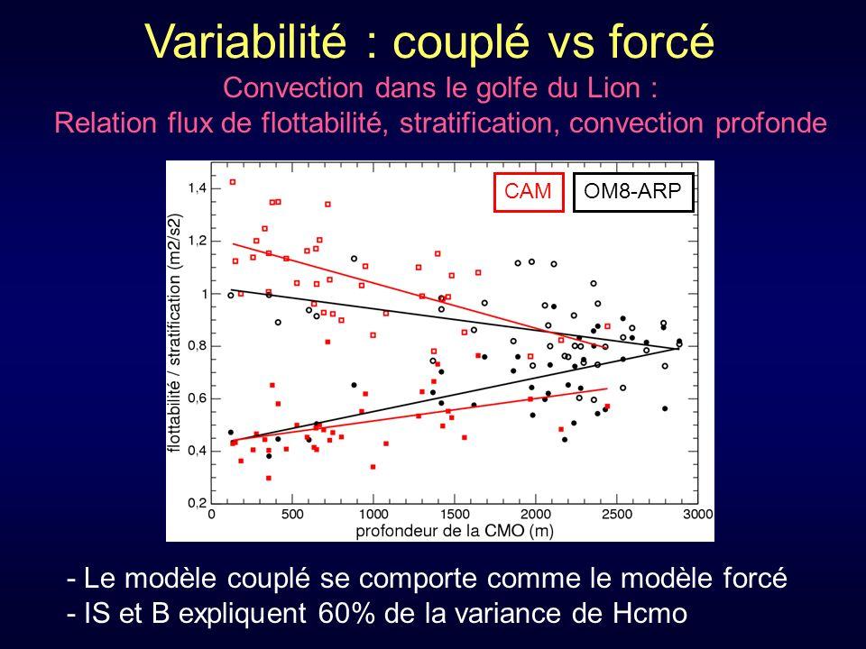 Variabilité : couplé vs forcé