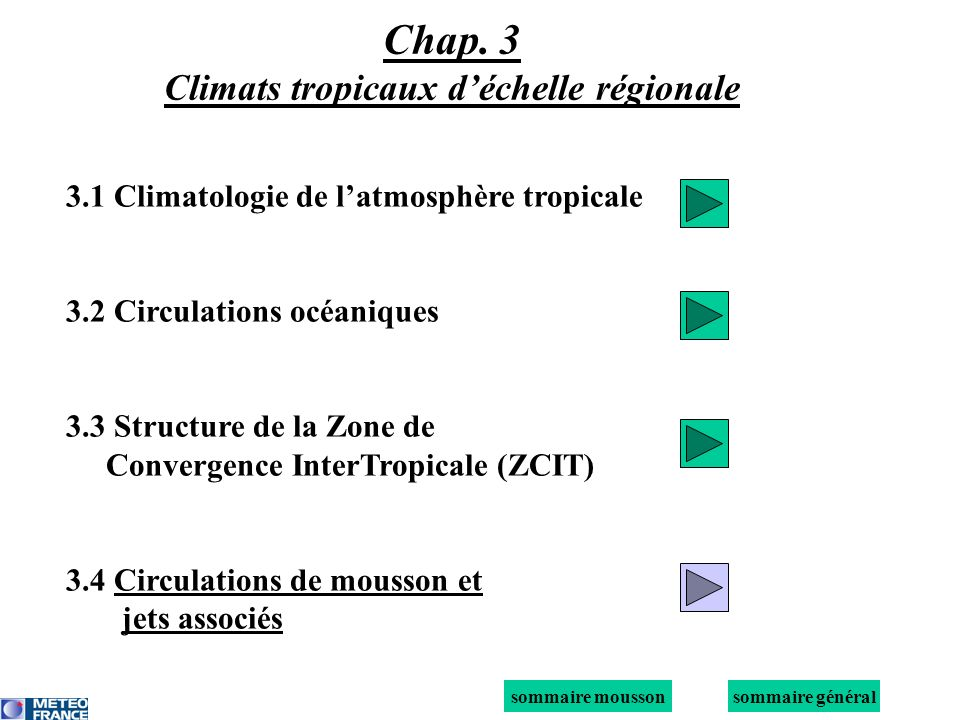 Chap. 3 Climats tropicaux d'échelle régionale