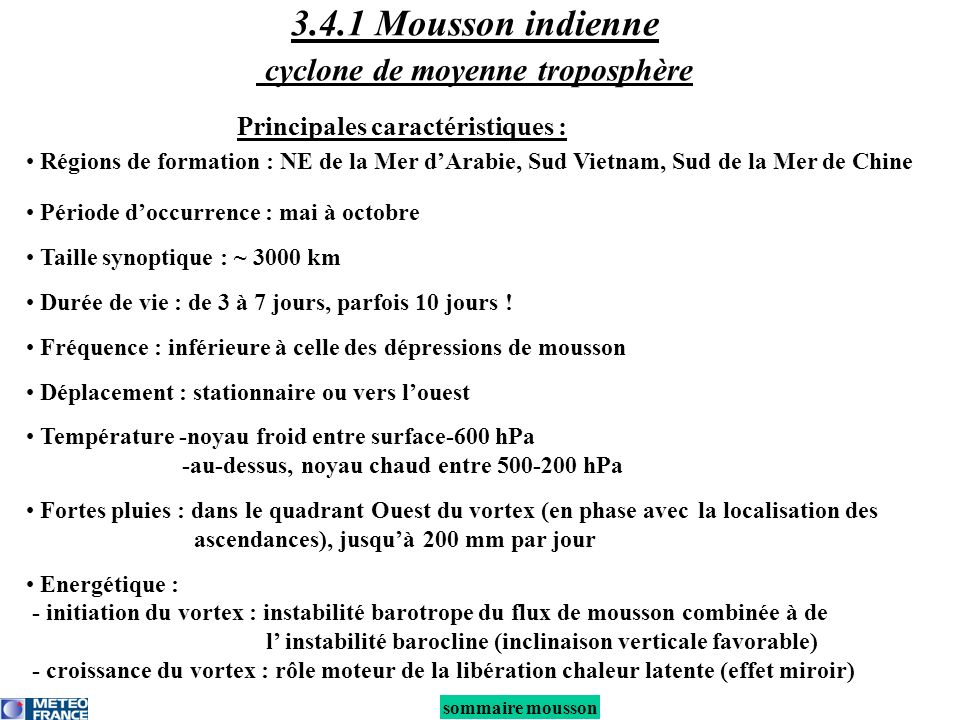 3.4.1 Mousson indienne cyclone de moyenne troposphère