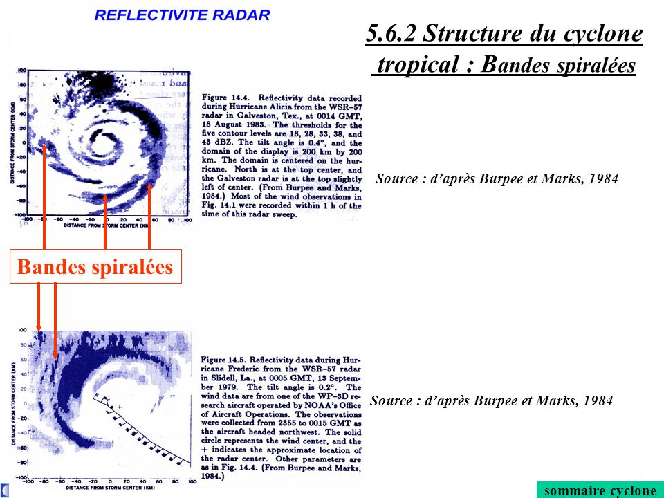 5.6.2 Structure du cyclone tropical : Bandes spiralées