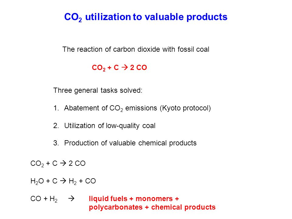 CO2 utilization to valuable products