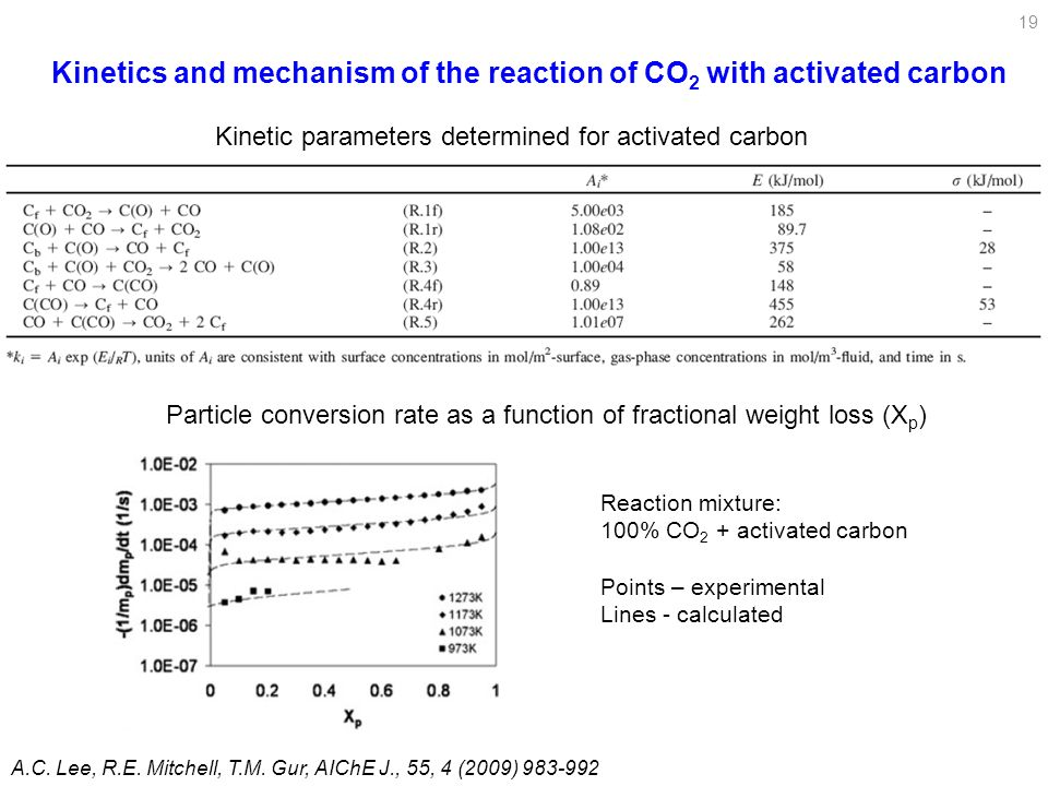 Kinetics and mechanism of the reaction of CO2 with activated carbon