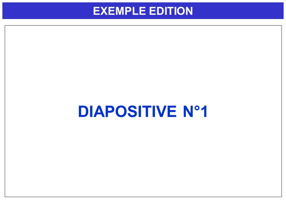 EXEMPLE EDITION DIAPOSITIVE N°1