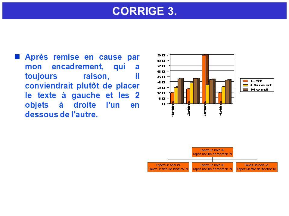 CORRIGE 3.